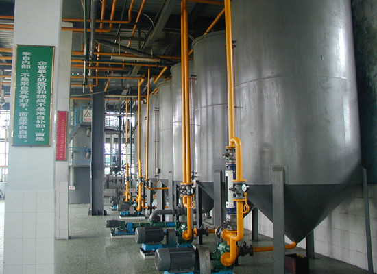 Corn germ oil refining machine