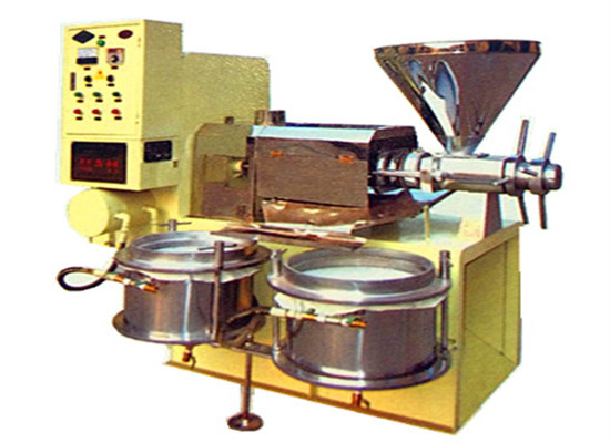 Integrated rice bran oil press machine with filter