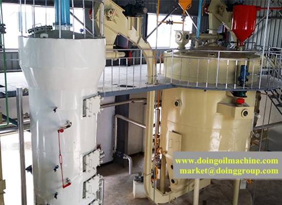 Corn germ oil processing machine