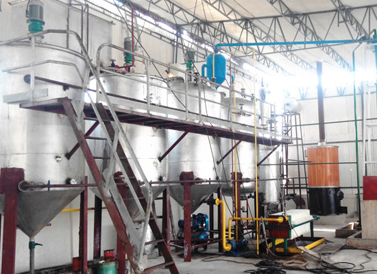 What types of edible oil can be refined by edible oil refinery plant?