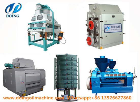 What machines were used in palm kernel oil extraction process?