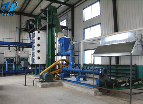 Rice bran oil processing machine