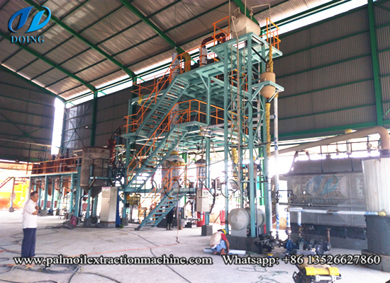 Indonesia 5tpd palm oil refining machine running video