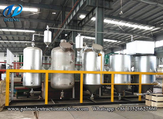 Small cooking oil refining machine, edible oil refinery machinery video