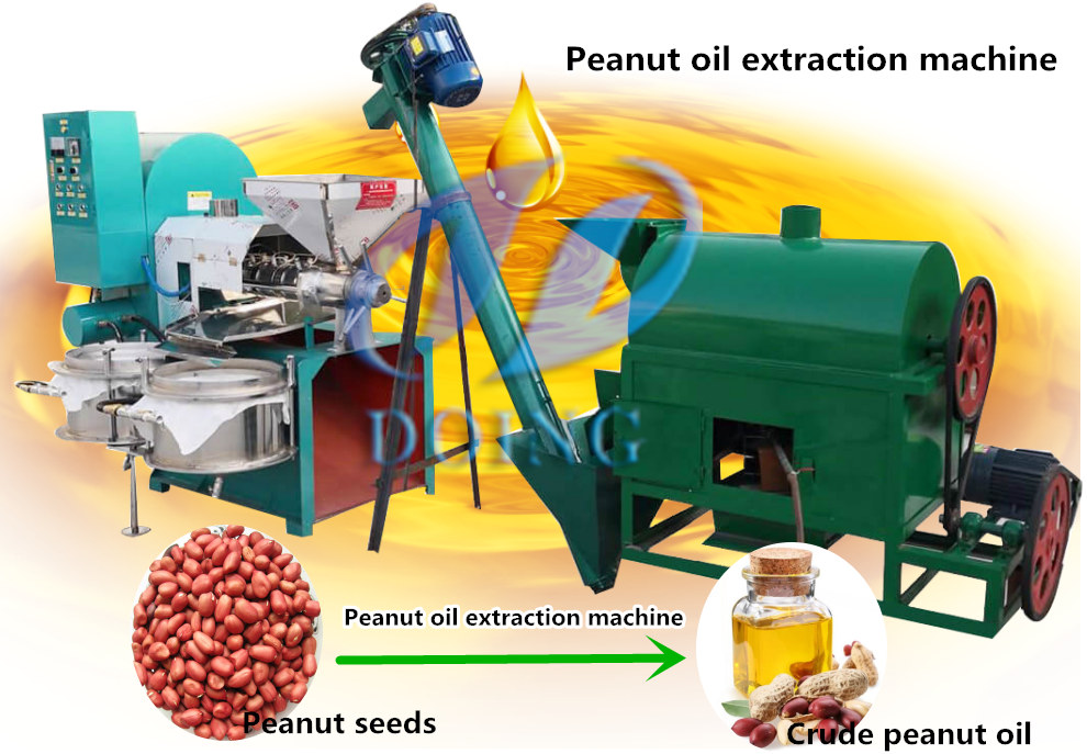 Small scale peanut oil extraction machine 3D animation