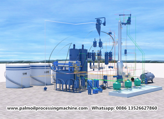 100tpd palm oil refining and fractionation machine running video (part 2)