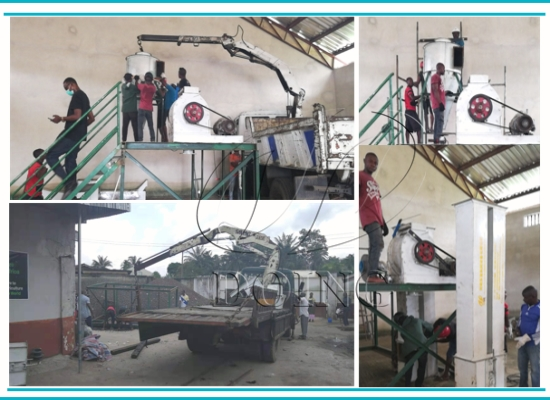 2tph palm kernel nut cracker and separator machine is installing in Nigeria