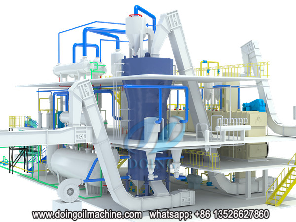 peanut oil solvent extraction plant 3d animation