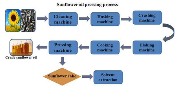 sunflower oil processing process