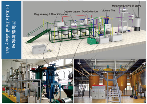 small scale cottonseed oil refinery plant
