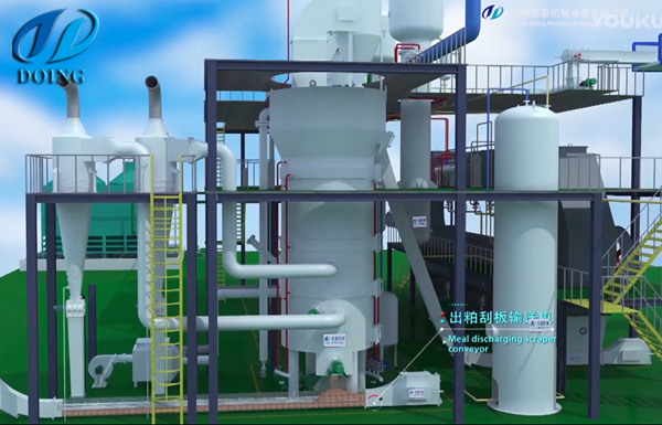 Rice bran oil solvent extraction plant workshop
