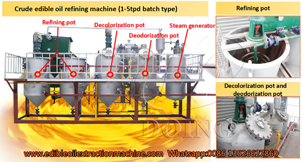 sesame oil refining machine