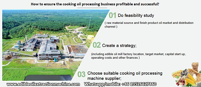 cooking oil processing business