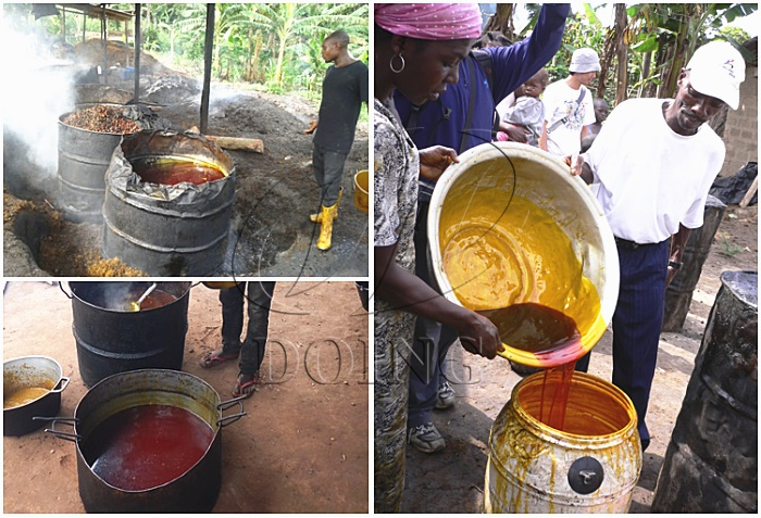 palm oil filtering method